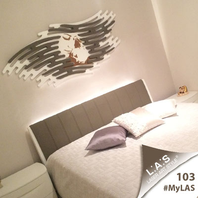 A casa di Carla <br> Abitazione privata   Italia </br> Codice: SI-160   Misura: 165x73 cm </br> Colore: bianco - applicazione grigio marrone