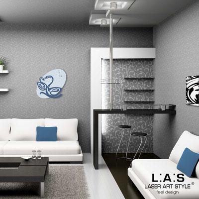 Wall clocks </br> Code: SI-241OR | Size: 68x68 cm </br> Colour: grey light blue-denim