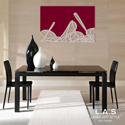 Abstract wall sculptures </br> Code: SI-168 | Size: 150x100 cm </br> Colour: burgundy-powder
