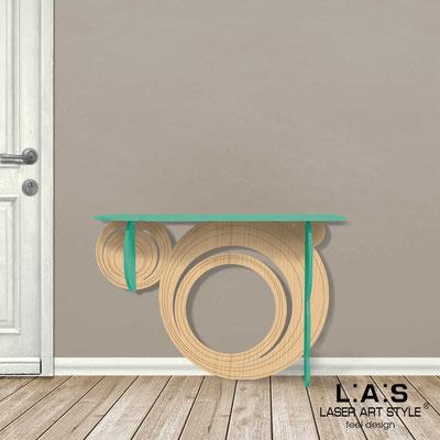 Complementi d'arredo </br> Codice: MW-280 | Misura: 120x40 h80 cm </br> Colore: salvia-natural wood-incisione legno