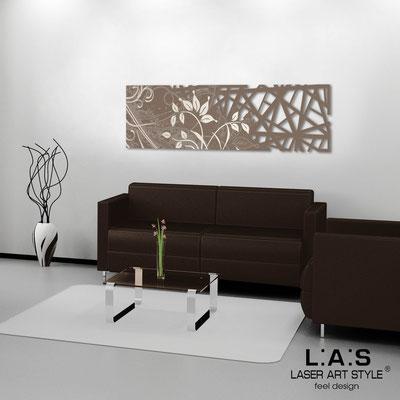 Quadri Astratti </br> Codice: SI-110-B | Misura: 148x50 cm </br> Colore: grigio marrone-incisione panna