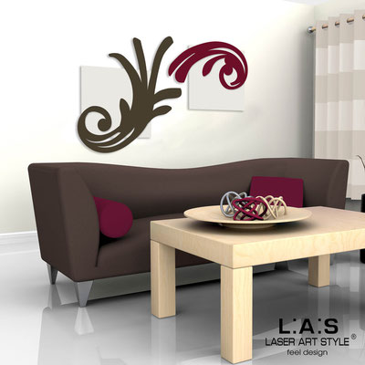 Abstract wall sculptures </br> Code: SI-252 | Size: 150x100 cm </br> Colour: cream/brown-burgundy