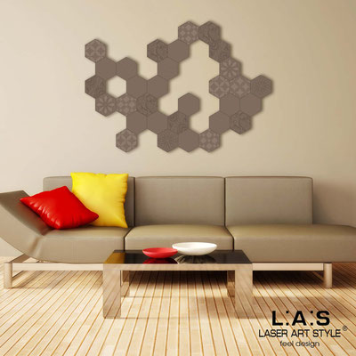 Abstract wall sculptures </br> Code: SI-301 | Size: 125x90 cm </br> Colour: dove grey-matched engraving