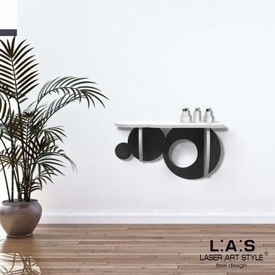 Complementi d'arredo </br> Codice: SI-278 | Misura: 60x30 cm </br> Colore: bianco-nero-incisione tono su tono