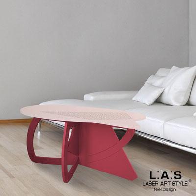 Complementi d'arredo </br> Codice: SI-372 | Misura: 100x60 h50 cm </br> Colore: rosa bon bon-rosso violetto-incisione legno
