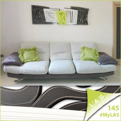 A casa di Anna   Italia </br> Codice: SI-147   Misura: 180x60 cm </br> Colore: marrone - bianco - verde acido/incisione invariabile
