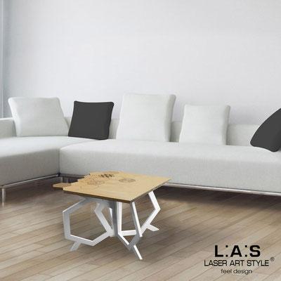 Complementi d'arredo </br> Codice: MW-316 | Misura: 60x60 h50 cm </br> Colore: natural wood-bianco-incisione legno
