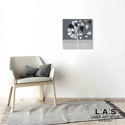 Quarantotto </br>  Code: Q-008 | Size: 48x48 cm </br> Colour: grey decoration-wood engraving