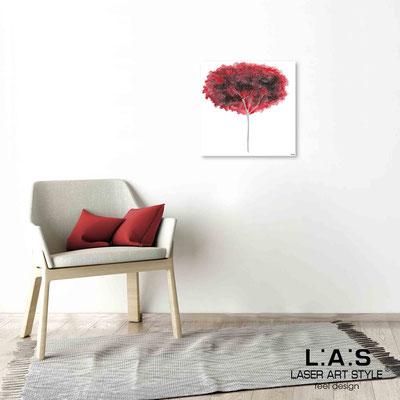 Quarantotto </br>  Codice: Q-005 | Misura: 48x48 cm </br> Colore: decoro rosso-incisione legno