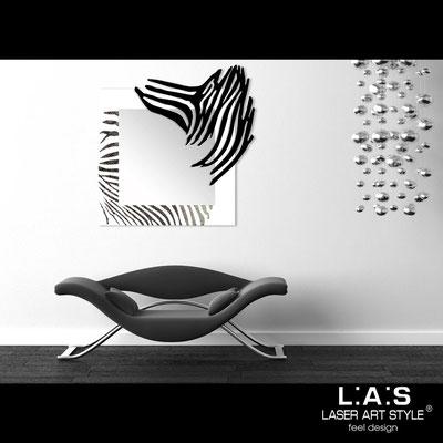 Specchiere </br> Codice: SI-226-SP | Misura: 97x100 cm </br>  Colore: bianco-nero-incisione nero