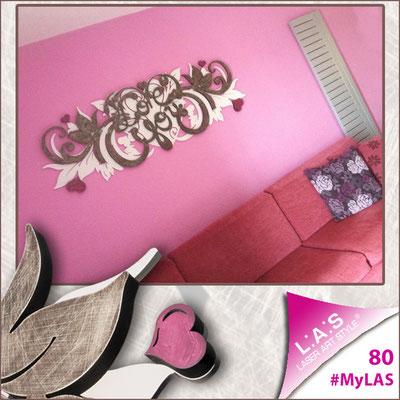 A casa di Carolina <br> Abitazione privata   Italia </br> Codice: SI-212   Misura: 180x60 cm </br> Colore: rosa chiaro - marrone shabby - decoro porpora violetto