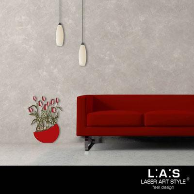 Quadri Floreali </br>  Codice: SI-193-E | Misura: 55x74 cm </br>  Colore: rosso-decoro rosso-incisione legno