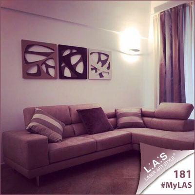 Abitazione privata | Italia </br> Codice: SI-146L | Misura: 60x60 cm/cad <br> Colore: grigio marrone/marrone-panna-nocciola