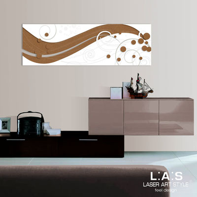Abstract wall sculptures </br> Code: SI-108-B | Size: 180x58 cm </br> Colour: bronze-white-wood engraving
