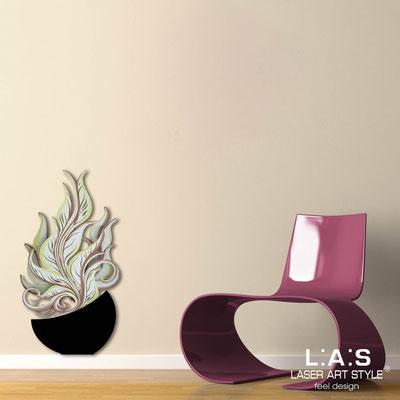 Quadri Floreali </br>  Codice: SI-191-E   Misura: 47x89 cm </br>  Colore: nero-decoro toni caldi-incisione legno