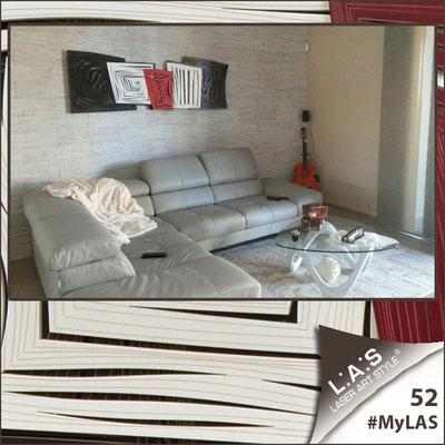 A casa di Giuseppe e Monia <br> Abitazione privata | Italia </br> Codice: SI-147 | Misura: 180x60 cm <br> **PERSONALIZZATO** Colore: marrone - panna - rosso