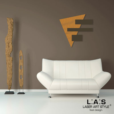 Abstract wall sculptures </br> Code: SI-188 | Size: 65x65 cm </br> Colour: light orange-brown-wood engraving