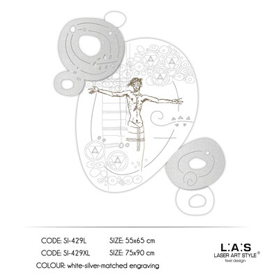 News </br>  Code: SI-429L | Size: 55x65 cm </br>  Code: SI-429XL | Size: 75x90 cm </br> Colour: white-silver-wood engraving