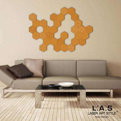 Quadri Astratti </br> Codice: SI-301 | Misura: 125x90 cm </br> Colore: arancio medio-incisione tono su tono