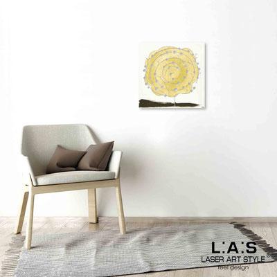 Quarantotto </br>  Codice: Q-003 | Misura: 48x48 cm </br> Colore: decoro senape-incisione legno
