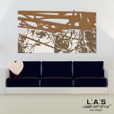 Quadri Astratti </br> Codice: SI-149 | Misura: 2pz 180x100 cm </br> Colore: bronzo-panna-incisione legno