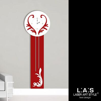 Orologi </br> Codice: SI-244OR | Misura: 60x180 cm </br>  Colore: rosso-bianco-incisione legno