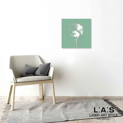 Quarantotto </br>  Code: Q-012 | Size: 48x48 cm </br> Colour: sage-wood engraving
