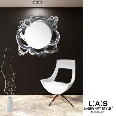 Mirrors </br> Code: SI-204Q-SP | Size: 90x85 cm </br>  Colour: white-charcoal grey-silver