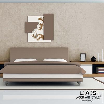 Quadri Sacri </br> Codice:  SI-161 | Misura: 60x60 cm </br>  Colore: panna-grigio marrone-incisione legno