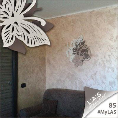 A casa di Dora e Giovanni <br> Abitazione privata | Italia </br> Codice: SI-200L | Misura: 90x90 cm </br> **PERSONALIZZATO** Colore: panna - grigio marrone - nocciola