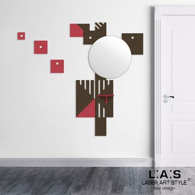Complementi d'arredo </br> Codice: SI-365 | Misura: 96x150 cm </br> Colore: marrone-rosso violetto-incisione legno
