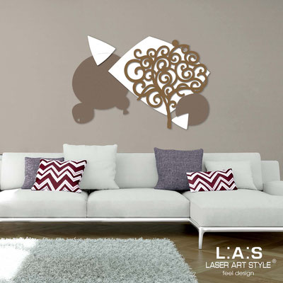 Floral wall sculpture </br> Code: SI-354 | Size: 142x100 cm </br> Colour: dove grey-white-bronze