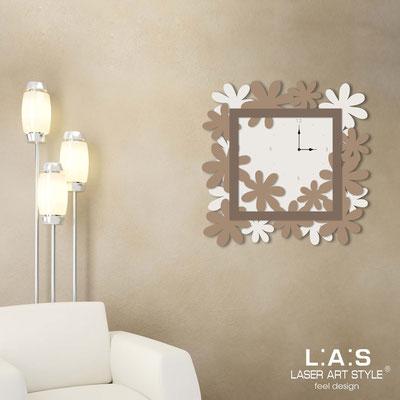 Wall clocks </br> Code: SI-207 | Size: 70x70 cm </br> Colour: cream-hazel-dove grey