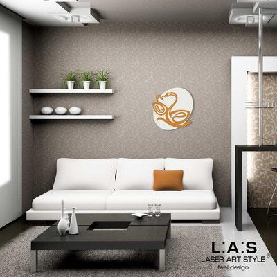 Figurative wall sculpture </br> Code: SI-241L | Size: 63x63 cm </br> Code: SI-241XL | Size: 88x88 cm </br> Colour: cream-light orange