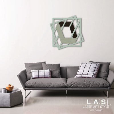 Abstract wall sculptures </br> Code: SI-302 | Size: 85x85 cm </br> Colour: grey green-black-wood engraving