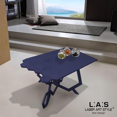 Complementi d'arredo </br> Codice: SI-317 | Misura: 100x60 h50 cm </br> Colore: blu petrolio-incisione tono su tono