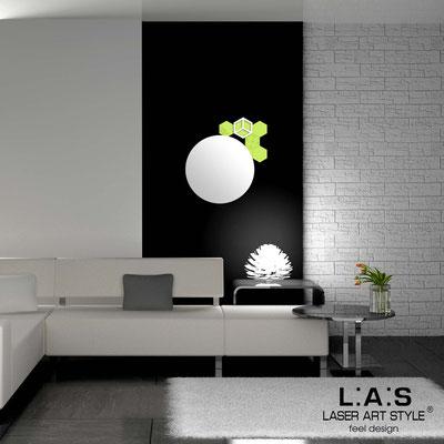 Specchiere </br> Codice: SI-321 | Misura: 60x65 cm </br>  Colore: verde acido-bianco incisione tono su tono