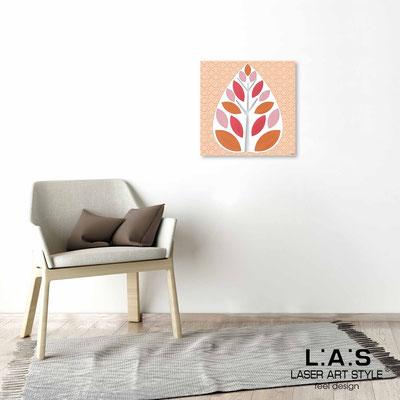 Quarantotto </br>  Codice: Q-007 | Misura: 48x48 cm </br> Colore: decoro pesca-incisione legno