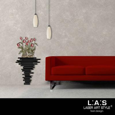 Quadri Floreali </br>  Codice: SI-193-H | Misura: 63x124 cm </br>  Colore: nero-decoro rosso-incisione legno
