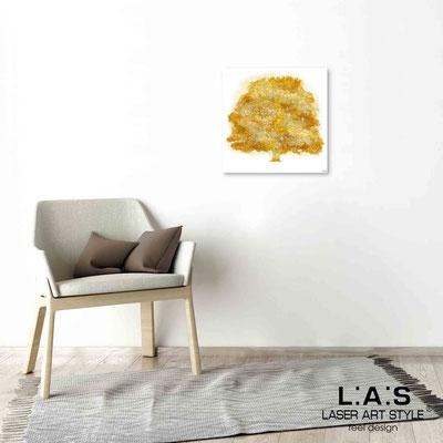 Quarantotto </br>  Codice: Q-006 | Misura: 48x48 cm </br> Colore: decoro senape-incisione legno