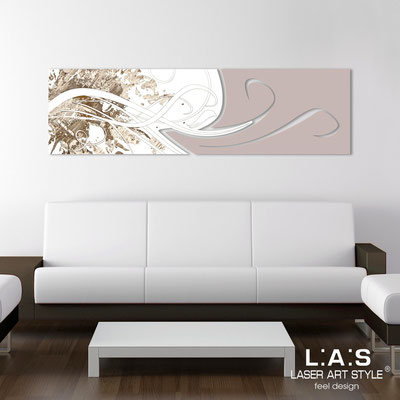 Abstract wall sculptures </br> Code: SI-091-B | Size: 180x58 cm </br> Colour: white-powder-wood engraving