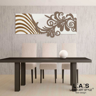 Abstract wall sculptures </br> Code: SI-134 | Size: 150x60 cm </br> Colour: cream-dove grey-wood engraving