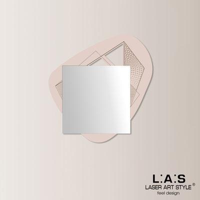 Specchiere </br> Codice: SI-374 | Misura: 86x90 cm </br>  Colore: rosa bon bon-incisione legno