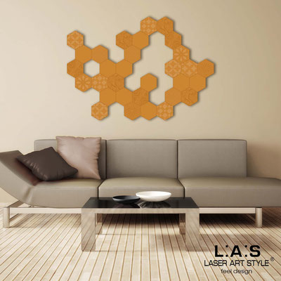Abstract wall sculptures </br> Code: SI-301 | Size: 125x90 cm </br> Colour: light orange-matched engraving