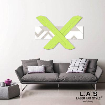 Quadri Astratti </br> Codice: SI-309 | Misura: 115x80 cm </br> Colore: bianco-verde acido-incisione legno