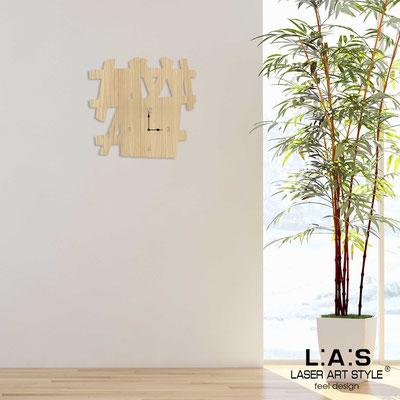 Orologi </br> Codice: W-393 | Misura: 65x60 cm </br>  Colore: natural wood