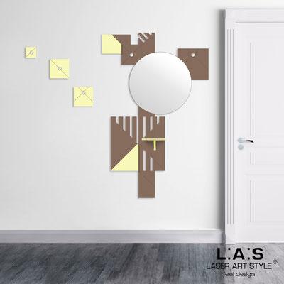 Complementi d'arredo </br> Codice: SI-365 | Misura: 96x150 cm </br> Colore: grigio marrone-blonde-incisione legno