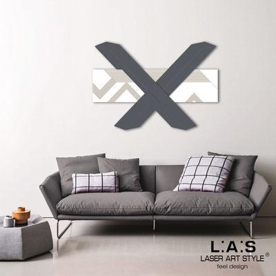 Quadri Astratti </br> Codice: SI-309 | Misura: 115x80 cm </br> Colore: bianco-antracite-incisione legno