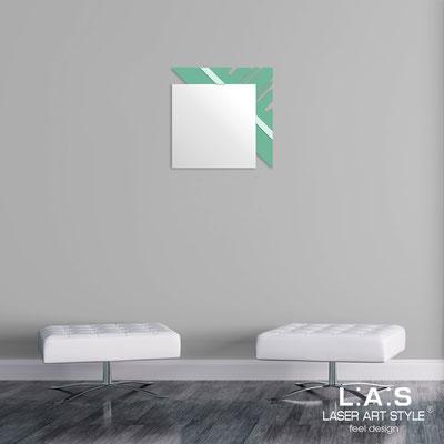 Specchiere </br> Codice: SI-358 | Misura: 60x60 cm </br>  Colore: salvia-verde chiaro