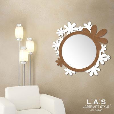 Mirrors </br> Code: SI-206Q-SP | Size: 93x87 cm </br>  Colour: white-bronze